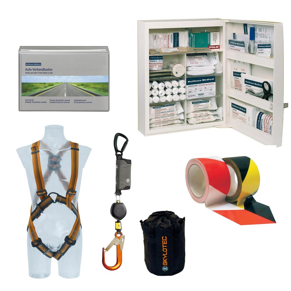 Erste Hilfe und betrieblicher Arbeitsschutz, PSA, Fallschutz
