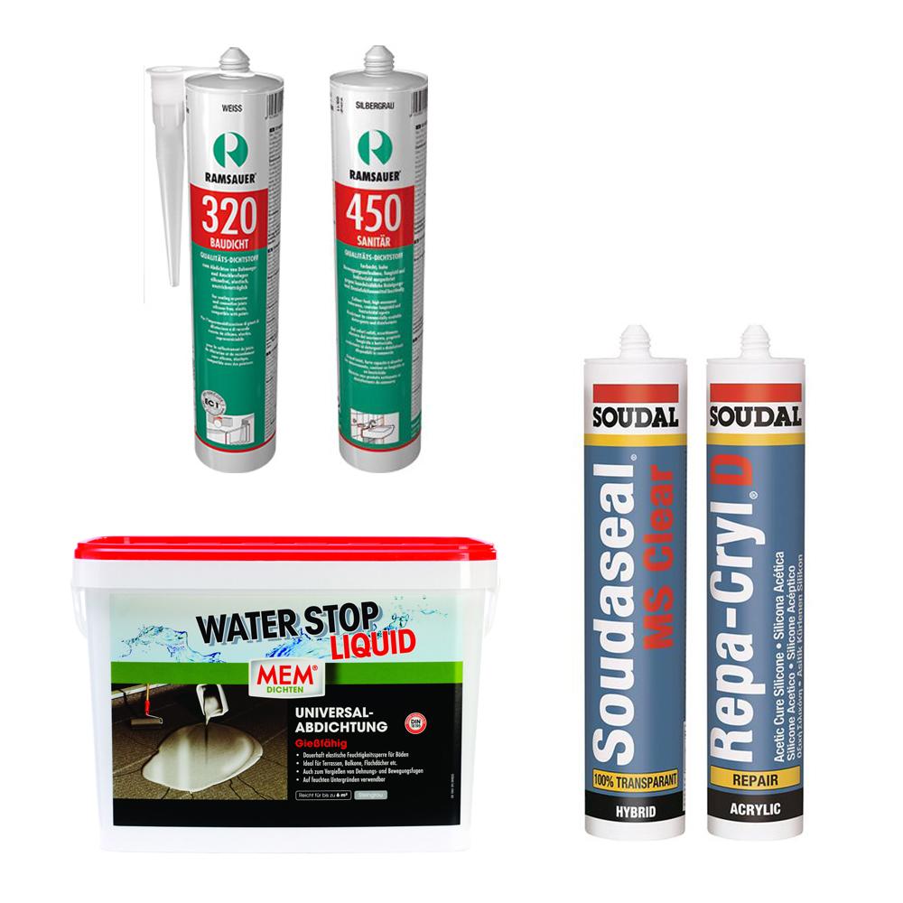 Ramsauer Baudicht, Silikon Sanitär, Waterstop, Repacryl, Acryl, Bausilikon, Polymer