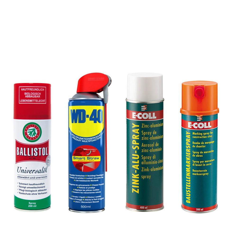 Multifunktionsspray, Baustellenmarkierspray, WD40, Ballistol, Zink Alu Spray
