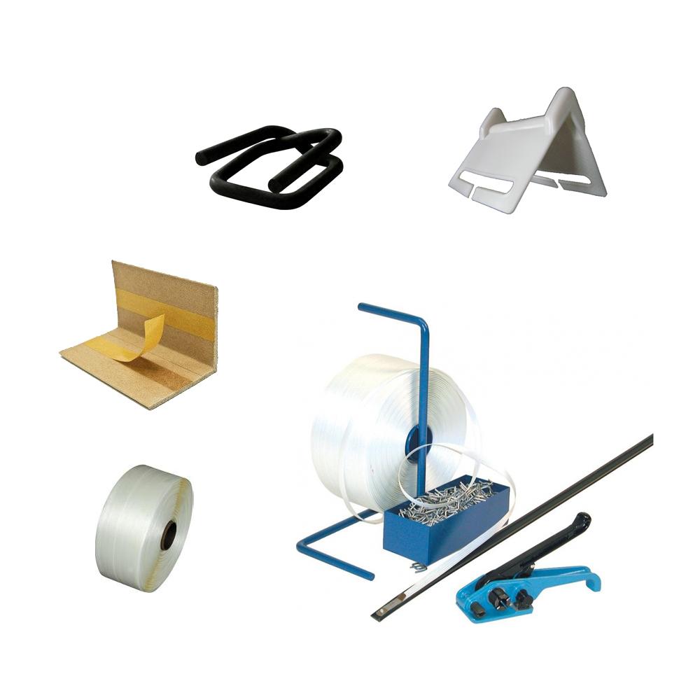 Umreifungsbänder, Umreifungssets, Kantenschutzecken, Drathklammern
