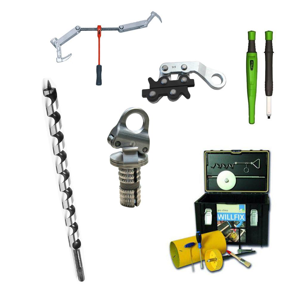 Werkzeuge und Zubehör für Zimmerer