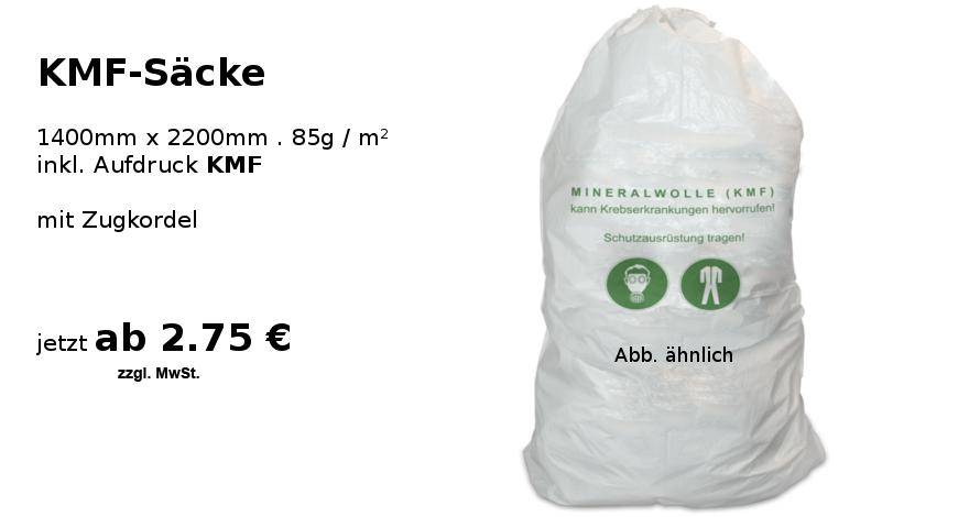 Extrem Neu bei MTA Dasing - KMF Säcke für die Entsorgung von Mineralwolle GS94
