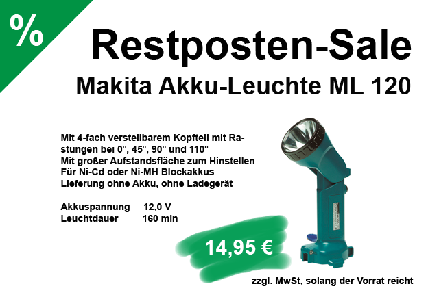 angebot - sale - makita ml120