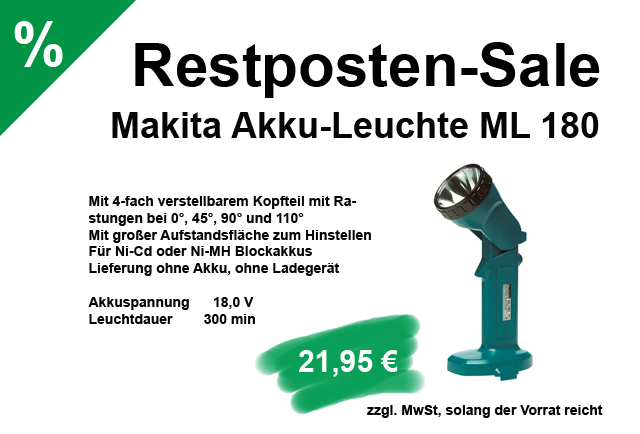 angebot - sale - makita ml180